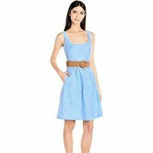 $79 Nine West Sky Blue Belted Fit & Flare Dress16
